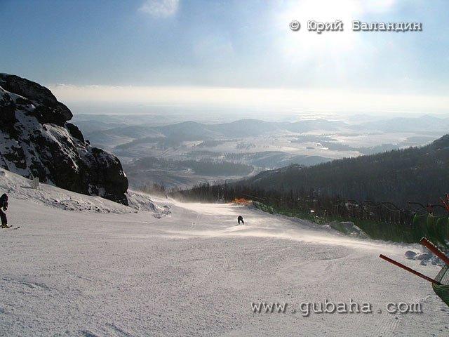 Губаха foto46.jpg Банное и Абзаково декабрь 2006 Горнолыжный центр Губаха горные лыжи сноуборд Город Губаха Фото