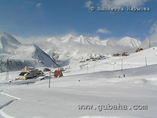 Губаха foto02.jpg Гудаури Грузия Горнолыжный центр Губаха горные лыжи сноуборд Город Губаха Фото