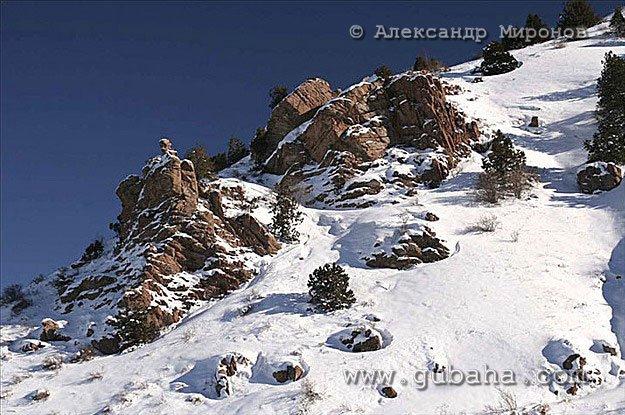 Губаха foto10.jpg Узбекистан - январь 2007 Горнолыжный центр Губаха горные лыжи сноуборд Город Губаха Фото