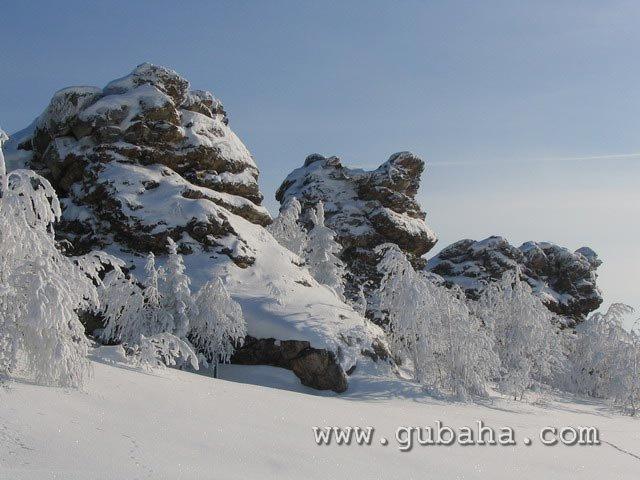Губаха priroda42.jpg Природа Губахи - зима Горнолыжный центр Губаха горные лыжи сноуборд Город Губаха Фото