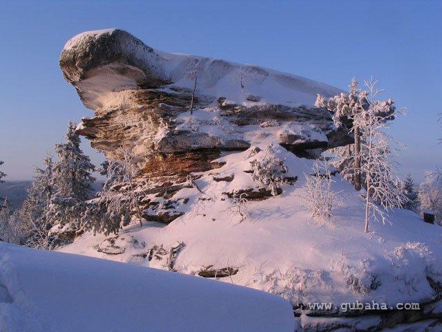 Губаха 034.jpg Каменный город - зима Горнолыжный центр Губаха горные лыжи сноуборд Город Губаха Фото